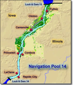 Fishing in Illinois: Mississippi Pool Maps